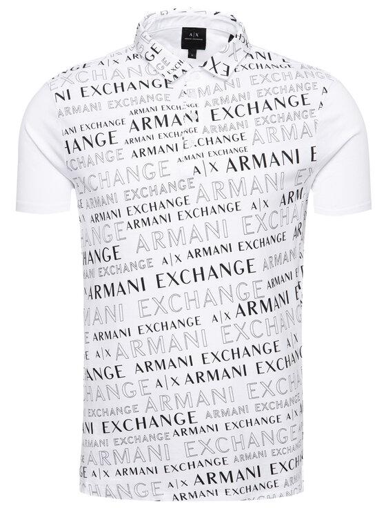 Armani Exchange Armani Exchange Тениска с яка и копчета 6GZF96 ZJH4Z 6125 Бял Regular Fit