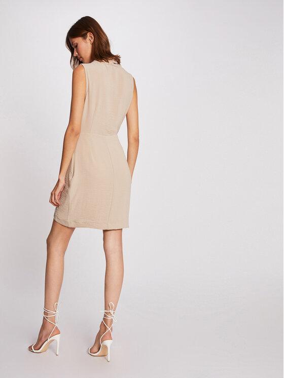 Morgan Morgan Sukienka koktajlowa 212-RENALD.F Beżowy Slim Fit