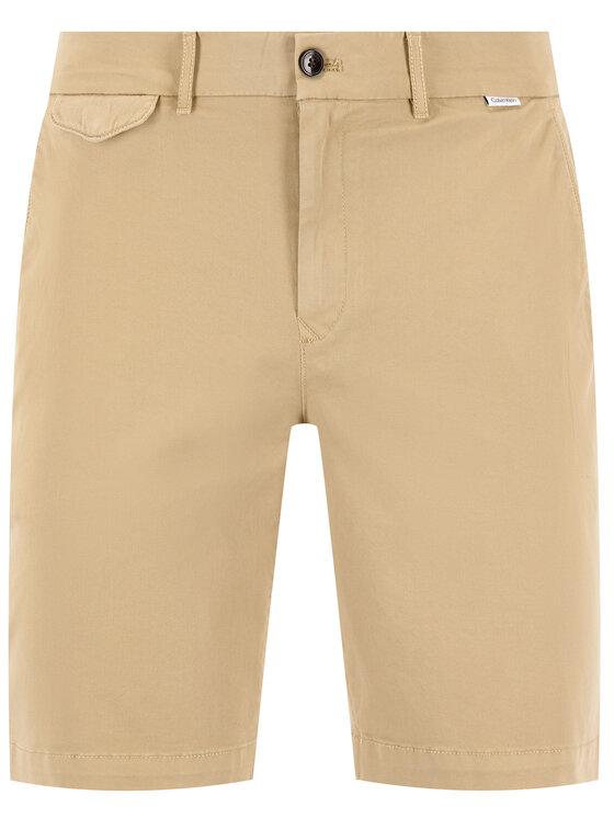 Calvin Klein Calvin Klein Stoffshorts Garmen Dyed K10K105314 Beige Slim Fit