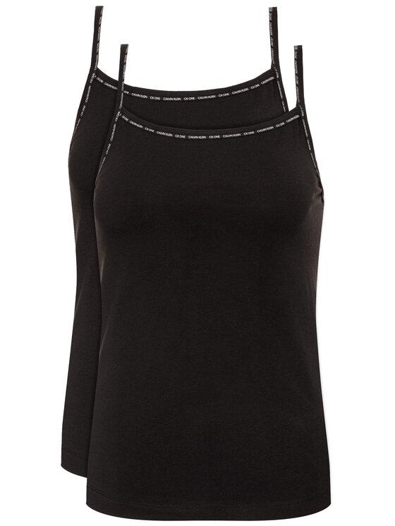 Calvin Klein Underwear 2 marškinėlių komplektas Cami 000QS6440E Juoda Regular Fit