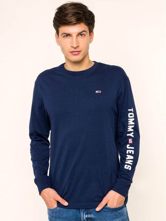 Tommy Jeans Tommy Jeans Marškinėliai ilgomis rankovėmis US Flag DM0DM07066 Tamsiai mėlyna Regular Fit