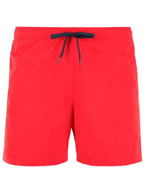 Tommy Hilfiger Tommy Hilfiger Szorty kąpielowe Sf Medium Drawstring UM0UM01080 Czerwony Slim Fit