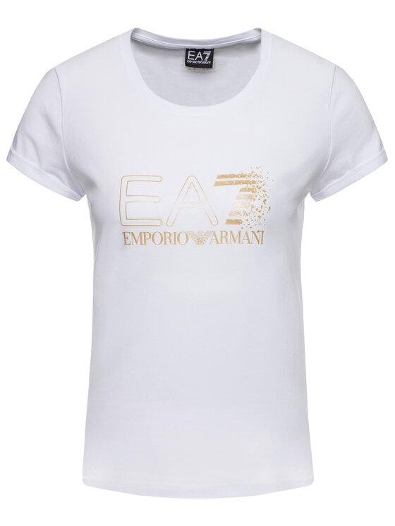 EA7 Emporio Armani EA7 Emporio Armani Marškinėliai 6GTT24 TJ12Z 1100 Balta Regular Fit