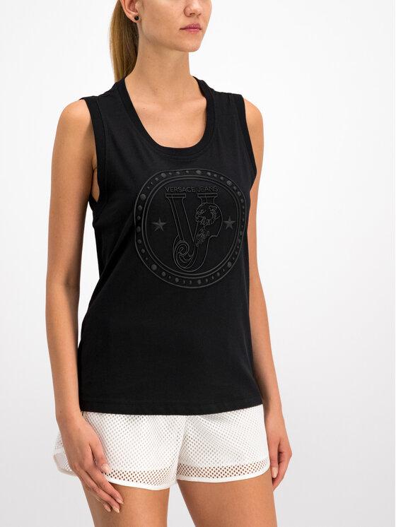 Versace Jeans Versace Jeans Marškinėliai D3HTB6E2 Juoda Regular Fit