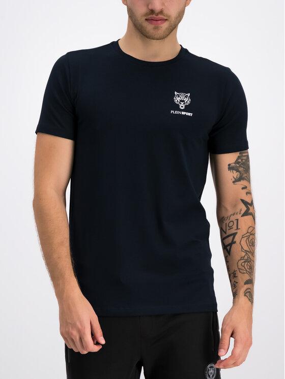 Plein Sport Plein Sport T-Shirt F19C MTK3802 SJY001N Dunkelblau Regular Fit