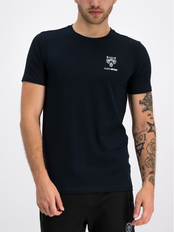 Plein Sport Plein Sport T-Shirt F19C MTK3802 SJY001N Granatowy Regular Fit
