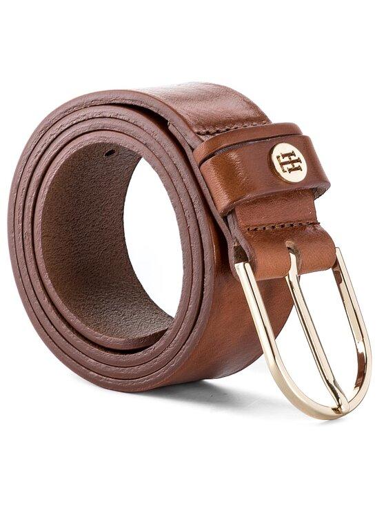 Tommy Hilfiger Tommy Hilfiger Дамски колан Classic Belt 3.5 AW0AW04412 75 Кафяв