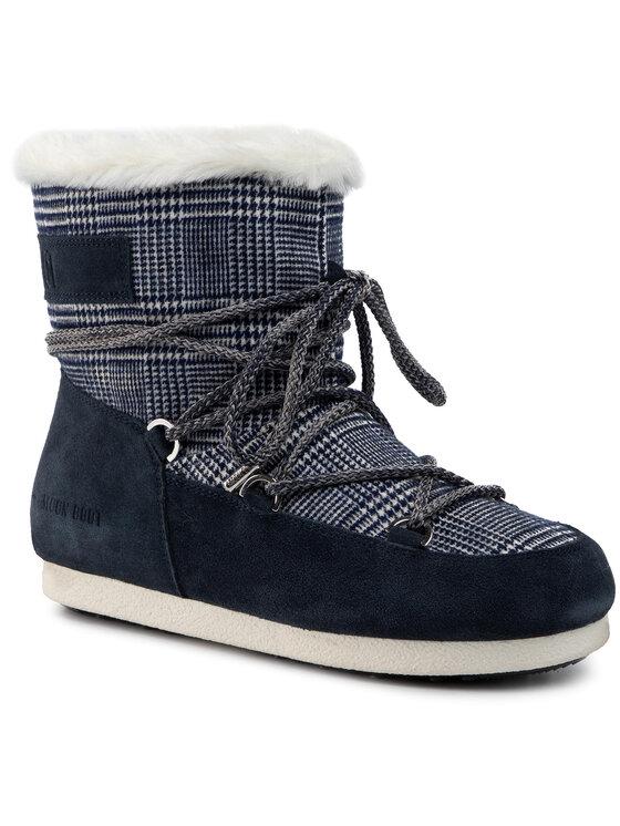 Moon Boot Sniegowce Mb Far Side Low Fur Tartan 24201100001 Granatowy Modivo Pl