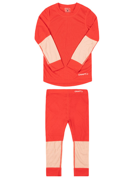 Craft Craft Komplet bielizny termoaktywnej Unisex Baselayer Seamless 1905355 Pomarańczowy Slim Fit