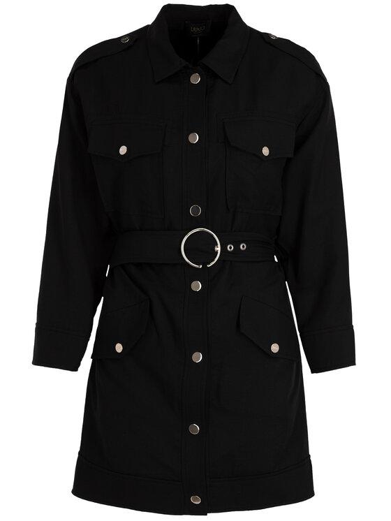 Liu Jo Liu Jo Košeľové šaty C19158 T2321 Čierna Regular Fit