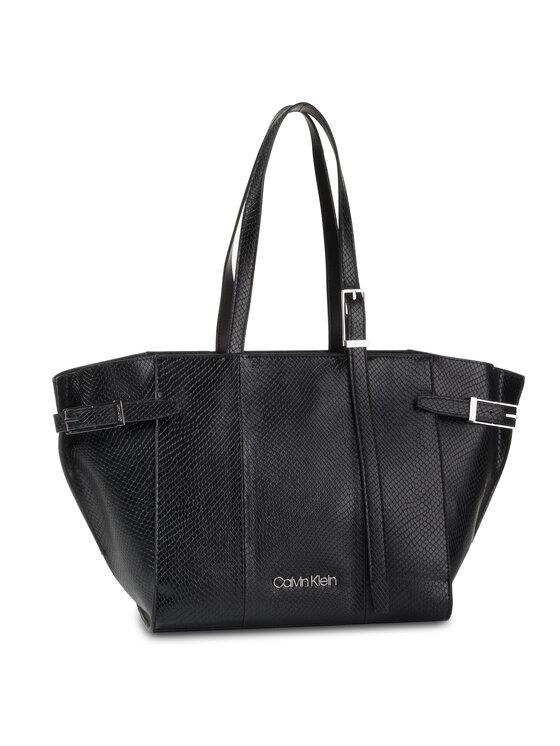 Calvin Klein Calvin Klein Torebka Winged Med Shopper K60K606016 Czarny