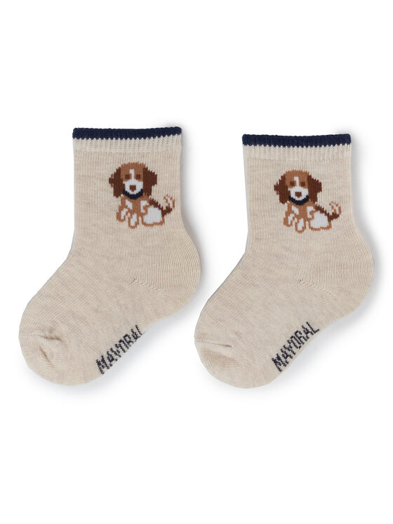 Mayoral Mayoral Súprava 3 párov vysokých detských ponožiek 10633 Tmavomodrá