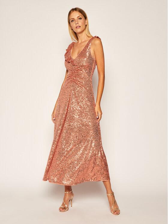 Pinko Pinko Večerní šaty Australe 20202 PBK2 1B14N5.7829 Růžová Regular Fit