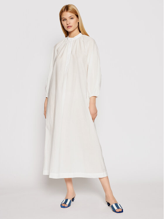 Max Mara Beachwear Paplūdimio suknelė Ebrid 32210618 Balta Regular Fit