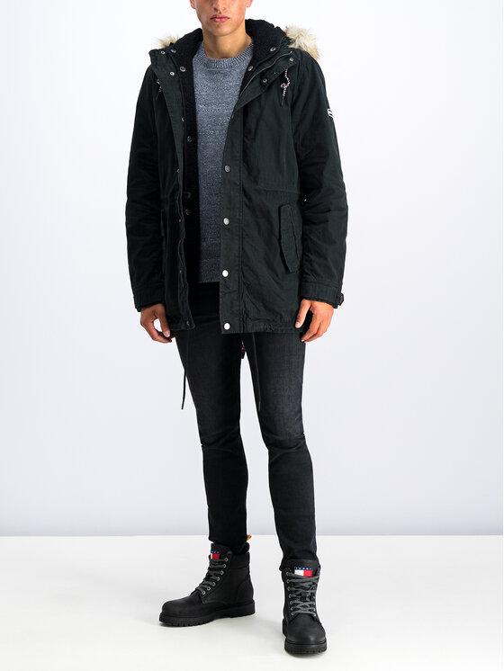 Tommy Jeans Tommy Jeans Парка Fleece DM0DM06911 Черен Regular Fit