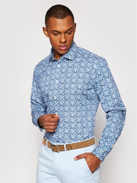 Pierre Cardin Marškiniai 4501/000/27408 Tamsiai mėlyna Slim Fit
