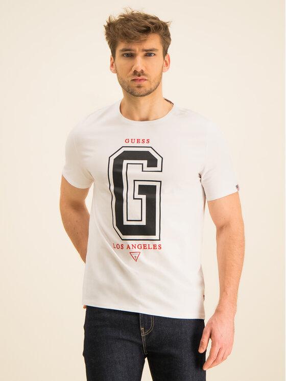 Guess Guess Marškinėliai M94I59 K8FQ0 Balta Regular Fit