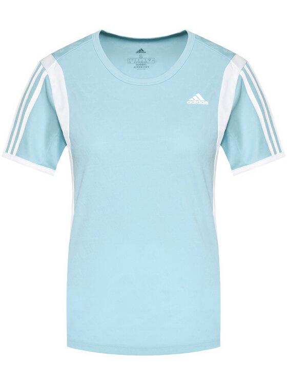 adidas adidas Koszulka techniczna Own The Run 3-Stripes Iteration GK5277 Niebieski Regular Fit