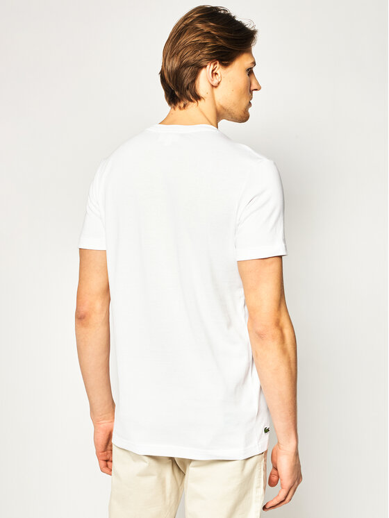 Lacoste Lacoste Тишърт TH4907 Бял Regular Fit