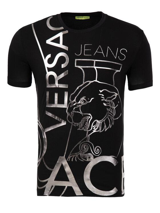 Versace Jeans Versace Jeans Póló B3GTB76O Fekete Slim Fit