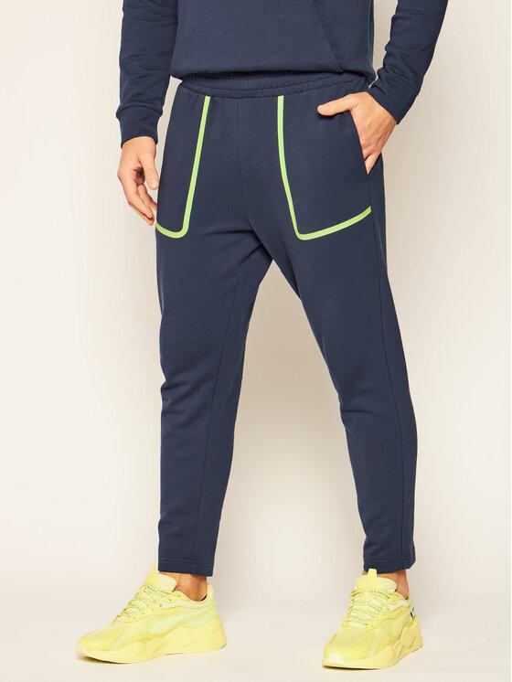 Calvin Klein Performance Calvin Klein Performance Spodnie dresowe 00GMF0P727 Granatowy Regular Fit