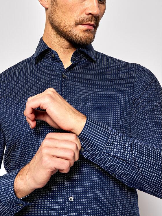 Calvin Klein Calvin Klein Košile Print Easy Care K10K106212 Tmavomodrá Slim Fit