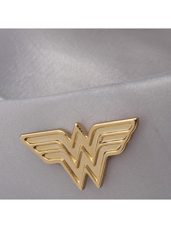 Melissa Melissa Ballerine Glam + Wonder Woman Ad 32220 Grigio