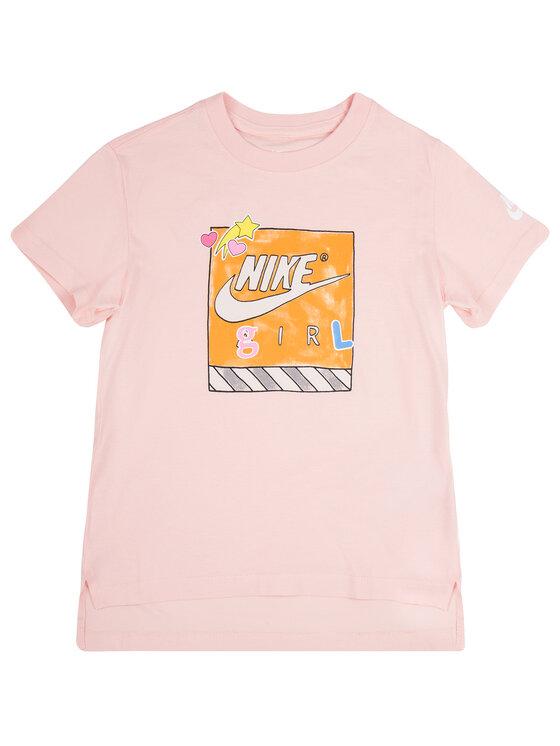 NIKE NIKE T-Shirt Filles CN2322 Różowy Standard Fit