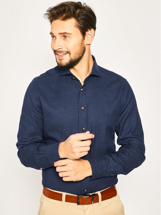 Emanuel Berg Marškiniai Harvard PEB47868 Tamsiai mėlyna Modern Fit