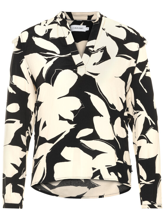 Calvin Klein Calvin Klein Blusa Frill Trm K20K201805 Multicolore Regular Fit