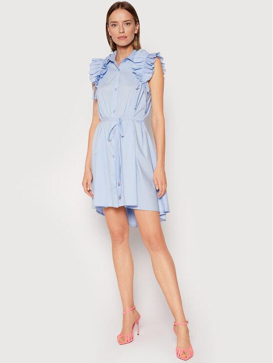 Rinascimento Rinascimento Rochie tip cămașă CFC0017910002 Albastru Regular Fit
