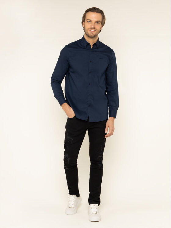 Guess Guess Košile M01H25 W7ZK0 Tmavomodrá Regular Fit