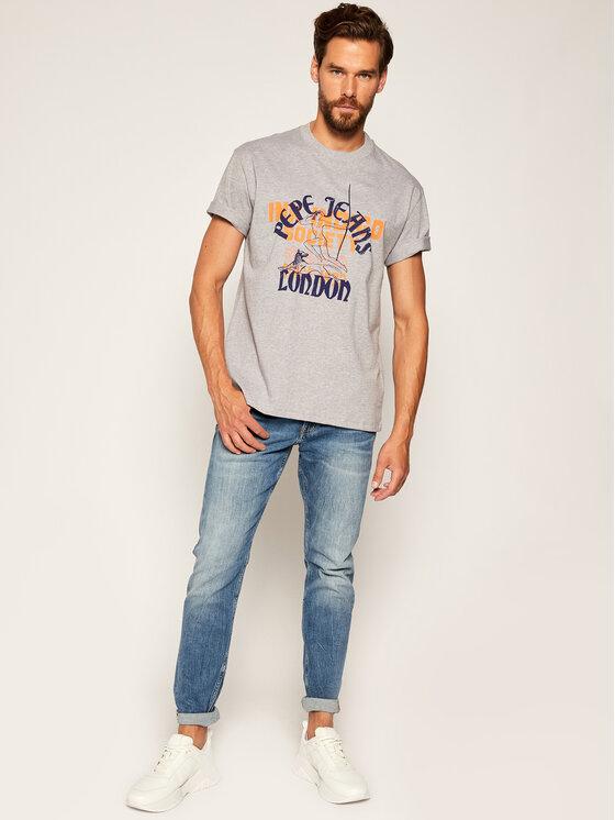 Pepe Jeans Pepe Jeans T-Shirt Samson PM507275 Γκρι Regular Fit