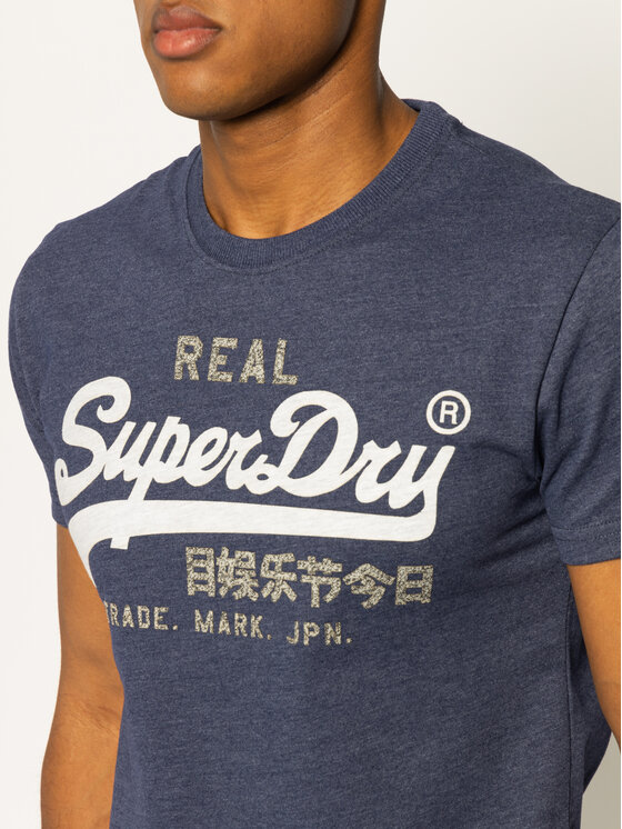 Superdry Superdry Tričko Premium Goods Heat Sealed Tee M1000107A Tmavomodrá Regular Fit