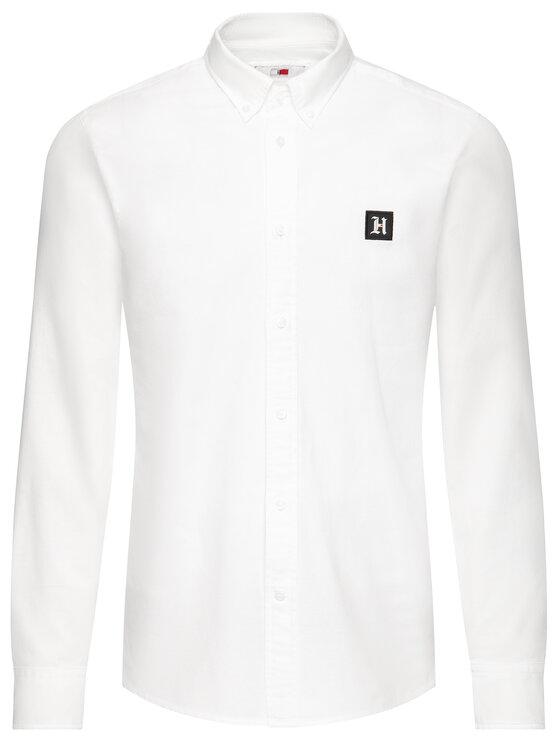 Tommy Hilfiger Tommy Hilfiger Koszula LEWIS HAMILTON Oxford MW0MW11422 Biały Regular Fit