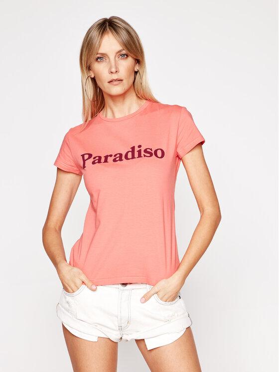 Drivemebikini Marškinėliai Paradiso 2020-DRV-002_LCB Rožinė Fitted Fit