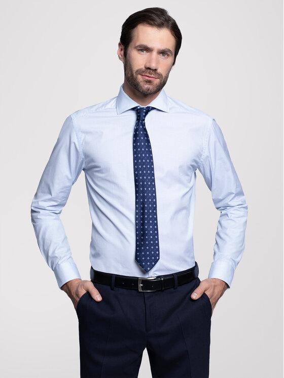 Vistula Koszula New Marble D Basic XA0619 Biały Slim Fit