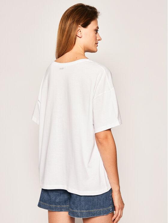 Liu Jo Liu Jo T-Shirt FA0102 J5703 Bílá Oversize