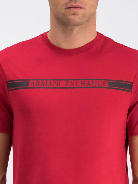 Armani Exchange Armani Exchange Tričko 6GZTAU ZJA5Z 1465 Červená Regular Fit
