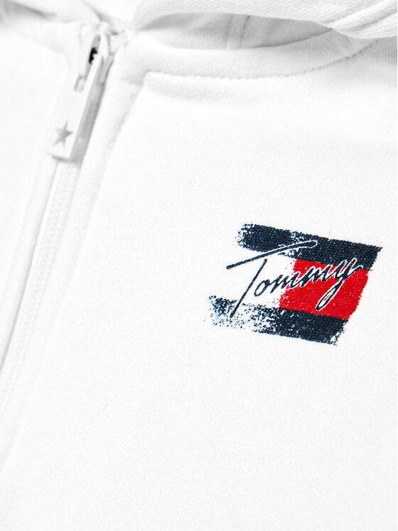 Tommy Hilfiger Tommy Hilfiger Bluza Flag Print KG0KG05765 M Biały Regular Fit