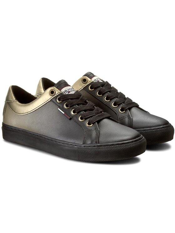 Tommy Hilfiger Tommy Hilfiger Sneakersy DENIM Luciana 6A EN56821861 Černá