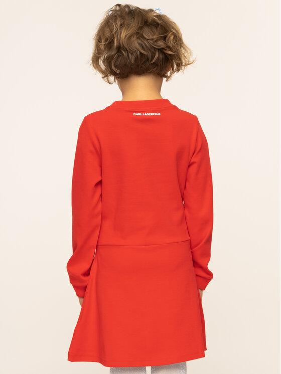 KARL LAGERFELD KARL LAGERFELD Kasdieninė suknelė Z12122 Raudona Regular Fit