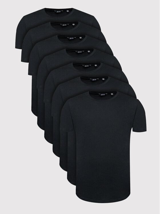 Only & Sons 7 marškinėlių komplektas Matt Life Longy 22012787 Juoda Regular Fit