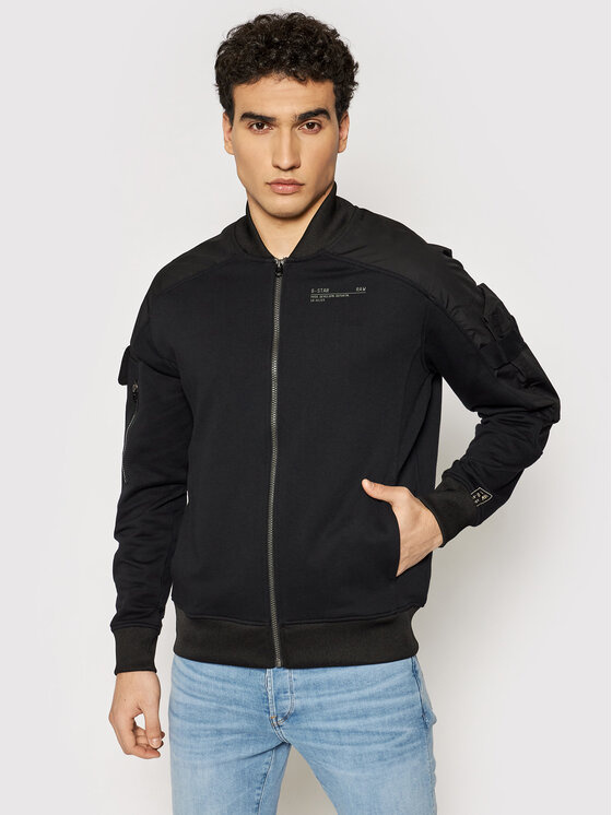 G-Star Raw Bomber striukė Mixed Cargo D19850-A613-6484 Juoda Relaxed Fit