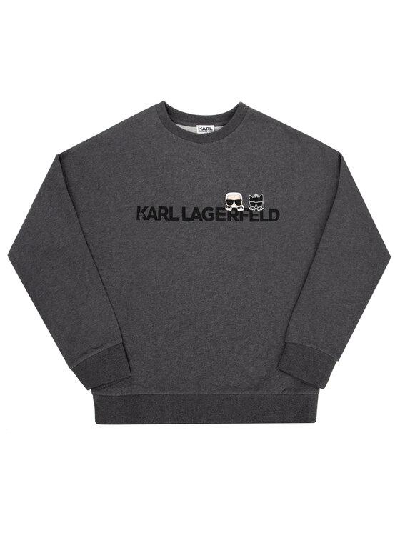 KARL LAGERFELD KARL LAGERFELD Bluza Z25201 D Szary Regular Fit