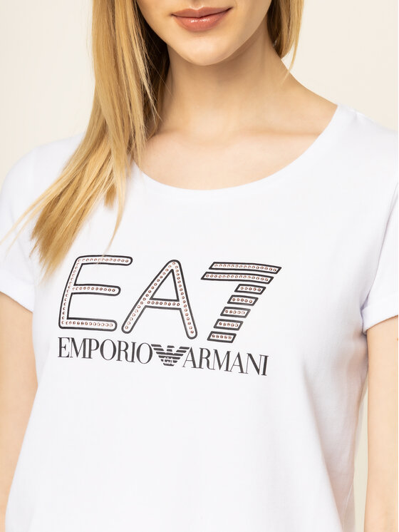 EA7 Emporio Armani EA7 Emporio Armani Marškinėliai 3HTT30 TJ12Z 1100 Balta Regular Fit