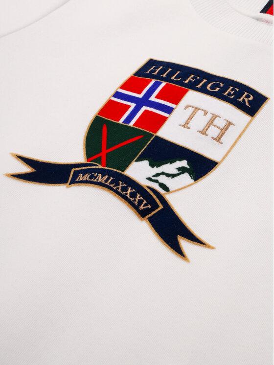 Tommy Hilfiger Tommy Hilfiger Džemperis Shield KB0KB05475 M Balta Regular Fit