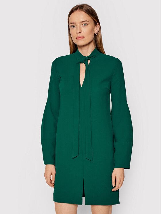 Victoria Victoria Beckham Kasdieninė suknelė Soft Crepe 2321WDR002845A Žalia Regular Fit