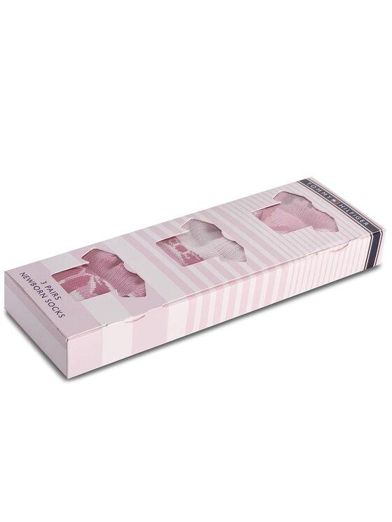 TOMMY HILFIGER TOMMY HILFIGER Súprava 3 párov vysokých detských ponožiek 475007001 Ružová