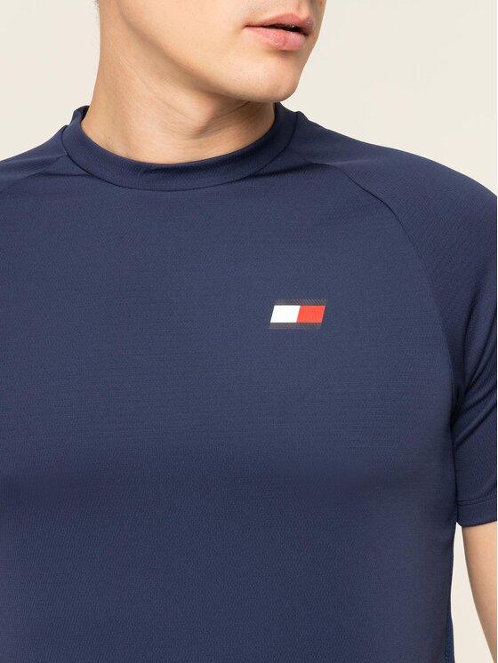Tommy Sport Tommy Sport T-Shirt Back Logo S20S200267 Granatowy Regular Fit